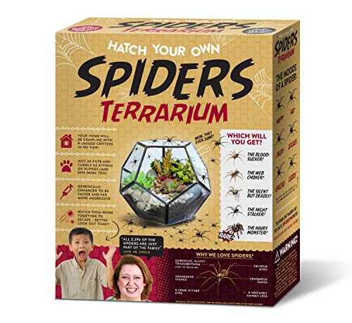 Seymour Butz Prank Gift Box Hatch Your Own Spider Terrarium - Perfect Gag Gift and Funny White...