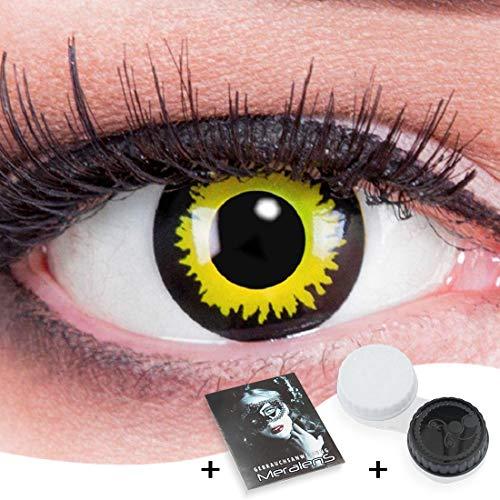 Funnylens 1 Paar farbige Crazy Fun eclipse Jahres Kontaktlinsen. perfekt zu Halloween, Karneval, Fasching oder Fasnacht mit gratis Kontaktlinsenbehälter ohne Stärke!