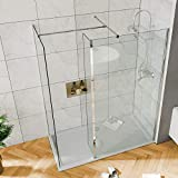 Elegant 800mm <span class='highlight'>Walk</span> <span class='highlight'>in</span> <span class='highlight'>Shower</span> Screen, 6mm Tougheded Safety Wet Room with 1400x800mm Tray,Flipper and 800mm Side Panel <span class='highlight'>In</span>cluded