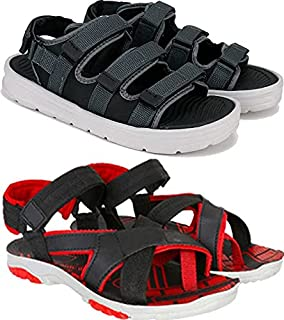Shoefly Comfortable Pack of 2 Casual Sandals & Floater for Men (Combo-(2)-1874-1116)