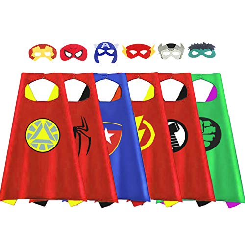 Outdoor Toys for Toddlers Age 3-5 - Party Favor for Kids  Treasure Store Superhero Dress up Costumes Toys for 3-7 Year Old Boys Gifts for 3-7 Year Old Boys Girls Toddlers Costumes Party Supplies 6 Pcs