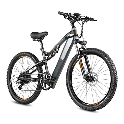HMEI Bicicleta eléctrica para Adultos 500W 48V 14.5Ah Bicicleta eléctrica 27.5 Pulgadas Batería de Litio Bicicleta de montaña En Stock (Color : Negro, Number of speeds : 8)