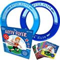 Beach Toys for Kids 3-10 [Cyan/Blue] Frisbee 2-Pack - Best for Water Games for Boys & Girls - Lake or Pool Party Gifts & Birthday Presents - Unique Christmas 2021 Ideas & Cool Outdoor Sand Family Fun