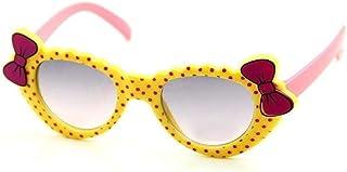 QPRER - Gafas De Sol,Amarillo Rosa Lazo De Nudo De Lazo Gradiente Espejo Clásico Niña IR De Compras Calle Gafas De Sol Verano Niños Diario Al Aire Libre Gafas Niño Playa Fiesta UV Cumpleaños Regalo
