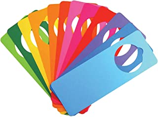 "Hygloss Products Bright Tag Door Hangers - DIY Door Tag - Bright Assorted Colors - Fun Activity - Great for Arts & Crafts - Approx. 4"" x 11"" - 12 Pack"
