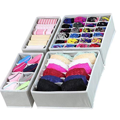 Organizadores de ropa interior Divisores de cajones Plegables - Cajas de almacenamiento Cube Basket Bins Organizadores Contenedores para calcetines Sujetadores Lazos Bufandas...