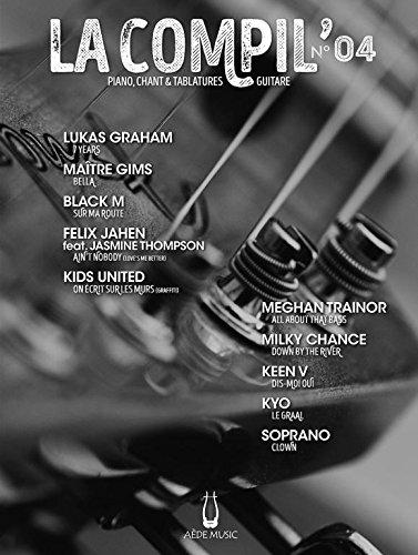 Partitions variété, pop, rock AEDE MUSIC LA COMPIL N° 4 - PVG ET TAB Piano voix guitare tablatures