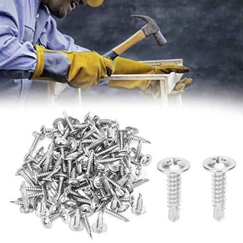 Tornillo de cabeza redonda, acero inoxidable 410, 100 piezas, para montaje de muebles de repuesto, carpintería