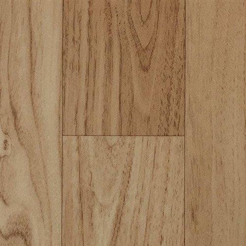 PVC-Boden Holzdielenoptik Beige mit Vliesrücken| Muster | Vinylboden versch. Längen | Fußbodenheizung geeignet | PVC Platten strapazierfähig & pflegeleicht | robuster, rutschhemmender Fußboden-Belag