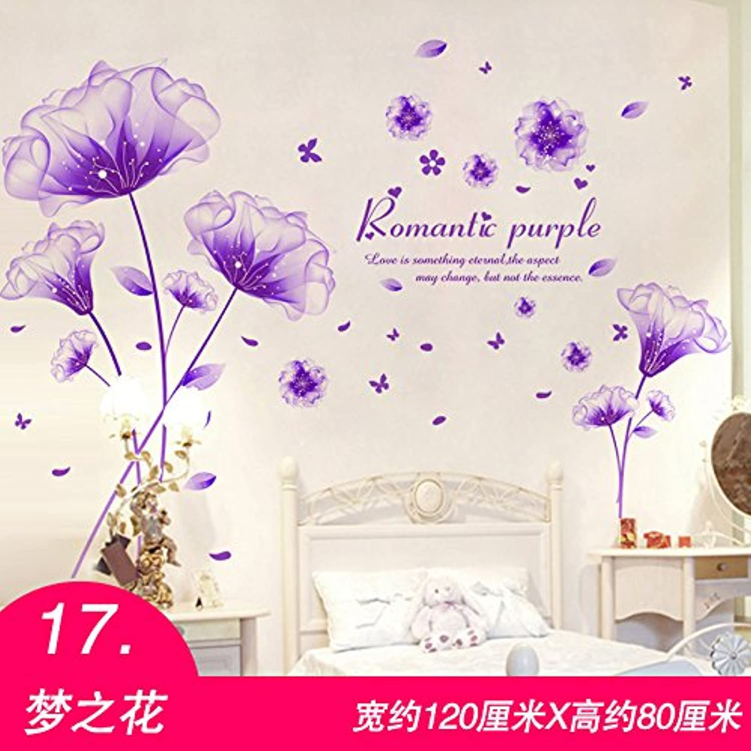 Znzbzt 3D Wallpaper self Adhesive Bedroom Wall Decoration Wall Sticker Wall Posters, Dream Flower