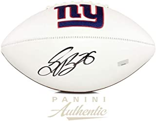 Saquon Barkley Signed Ball - Series White Panel ~Open Edition Item~ - Autographed Footballs