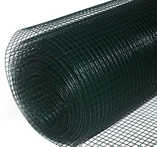 Volierendraht grün beschichtet 19x1000 mm 10 m Maschendrahtzaun