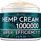 Hemp Pain Relief Cream 1,000,000 - Natural Hemp Extract Cream for Arthritis, Back Pain & Muscle Pain Relief - Efficient Inflammation Cream & Carpal Tunnel Relief - Made in USA - Good for Skin Health