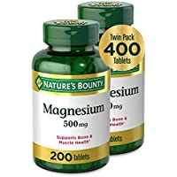 2-Pack X 400 Count Nature's Bounty 500mg Magnesium Tablets
