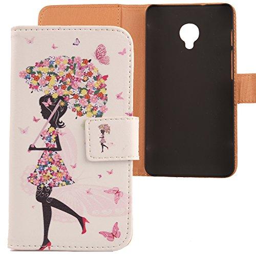 Lankashi PU Flip Leder Tasche Hülle Hülle Cover Schutz Handy Etui Skin Für Alcatel One Touch POP UP OT-6044D 5