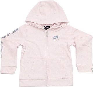 Nike Sportswear Air NSW Girl's (Little Kids) Full Zip Hoodie - Pink Foam (Medium,Size 6, 5-6 Yesrs)