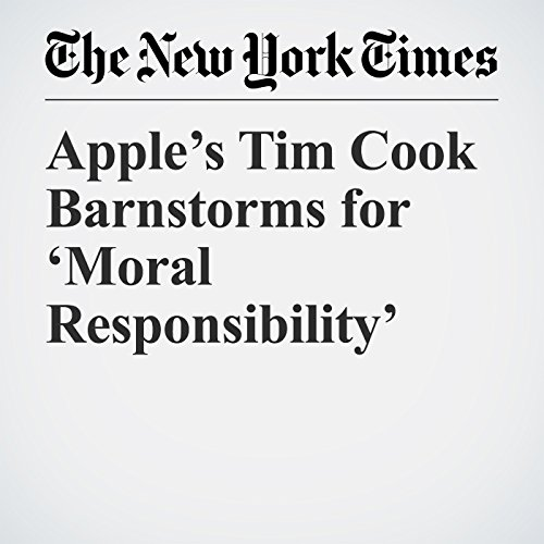 Apple's Tim Cook Barnstorms for 'Moral Responsibility' audiobook cover art