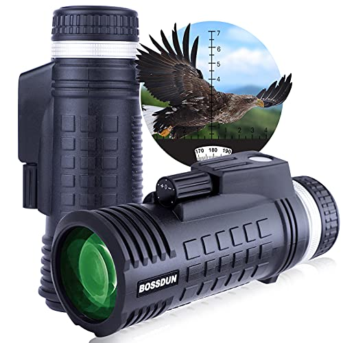 Monocular,8x42 Brújula Telémetro BAK4 Prisma FMC Óptica Impermeable Monoculares de Largo Alcance para Observar Las Aves o Vida Silvestre Caza