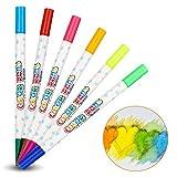 Didatecar, penna neon double-face, adatta per lavagne a LED luminose, ideale per pittura, schizzi, creazione, graffiti, arte, scrittura