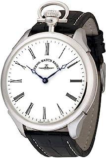 Zeno Watch Basel - Reloj para Hombre Analógico Meccanico con Brazalete de Cuero Buser-i2-rom