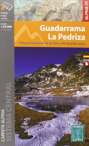 Guadarrama-La Pedriza. 2 mapas excursionistas. Escala 1:25.000. Editorial Alpina. Español, Française, English. (CARPETA ALPINA - 1/25.000)