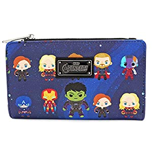 Loungefly x Marvel Avengers: Endgame Chibi All-Over Print Flap Wallet