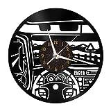 Car Cab Elements - Reloj de Pared con Disco de Vinilo de 12 Pulgadas, Reloj de Pared de Vinilo para Cocina, hogar, Sala de Estar, Dormitorio, Escuela (C), sin LED, decoración de Pared única para el