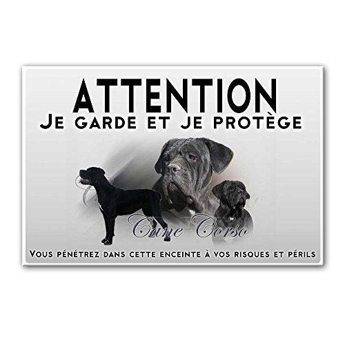 Pets-easy Plaque Attention au Chien Femelle Cane Corso