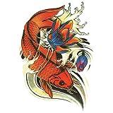(ファンタジー) THE FANTASY タトゥーシール 鯉 錦鯉 Carp-4【中型・A5】 (hb029)