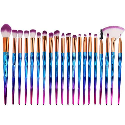 Pinceau de Maquillage Ensemble de pinceaux de Maquillage, Cils diamantés de qualité supérieure pour Sourcils, Ensemble de pinceaux à paupières teintés (10pcs) (Color : 4, Size : One Size)