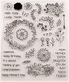 GIMITSUI Store Clear Silicone DIY Stamps (Celebrate Flower)