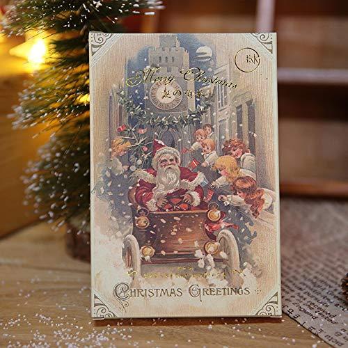 30 Fogli/Set Cartoline Di Auguri Di Natale Retrò Biglietto Di Auguri Per La Vigilia Di Natale Biglietto Di Auguri Di Compleanno