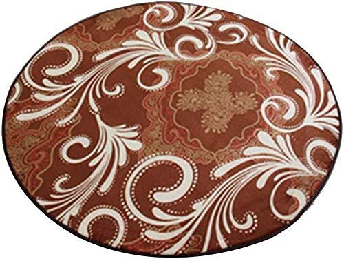 GQY Home Vrije tijd glijbaan tapijt - decoratieve matten deurmat mat - EEN eenvoudige cirkelbadmat fitness mat yogamat (grootte: 200 * 200cm)