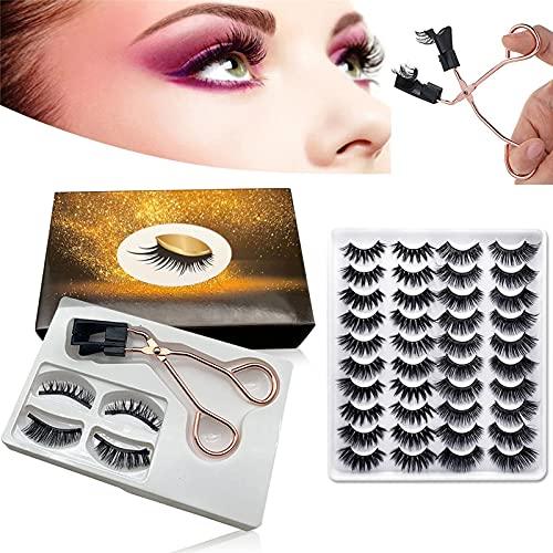 Magnetic Eyelashes Applicator Tool Kit Magnetic Eyelash Kit without Eyeliner Magnetic Eyelash Clip with 22 Pairs Soft Magnetic False Eyelashes