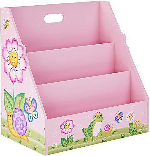 Children's Fantasy Storage Rack Wooden Books Magazine,Pink