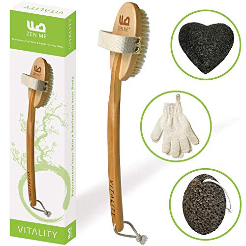 Premium Dry Brushing Body Brush for Exfoliating Dry Skin to Get Glowing...