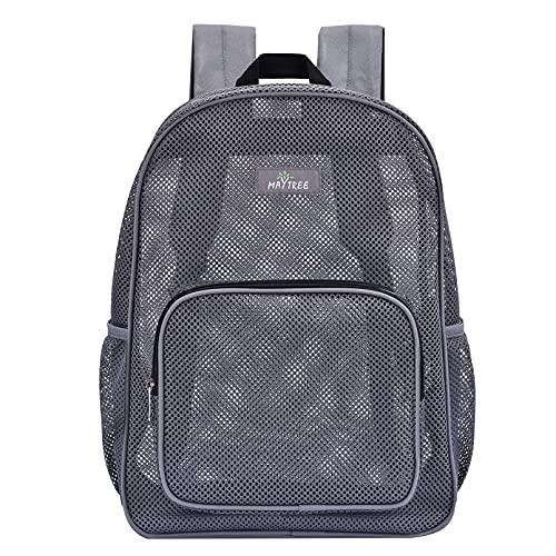 Heavy Duty Mesh Backpack, Semi-Transparent Mesh Backpack, See Through Mesh Backpack for Commuting,...