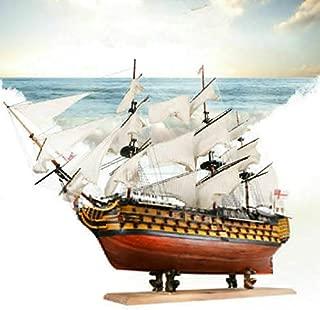 HMS Victoria 1765 Western Wooden Sailboat Royal Navy Ship Model Boats Cut Laser Process Educational Toys