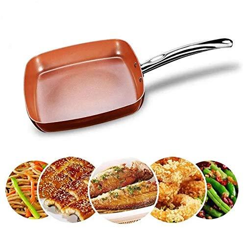 Chyuanhua Koekenpan Antiaanbaklaag Koperen Vierkante Pan Met Keramische Koekenpan Koper Oven Vaatwasser Chef Vierkante Fry Geschikt voor Keukenpotten
