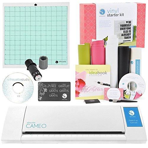 Silhouette Cameo Electronic Cutting Machine Vinyl Starter Kit Bundle