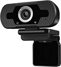 Anivia 1080p HD Webcam W8, USB Desktop Laptop Camera, Mini Plug and Play Video Calling Computer Camera, Built-in Mic, Flexible Rotatable Clip