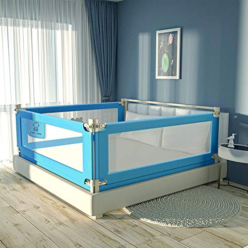 """Toddler Bed Rails for Kids Baby Twin Child, Full Size Bed Fence Bumper Rail Guard for King Queen,One Side 46.06"""" x 27"""" Blue"""