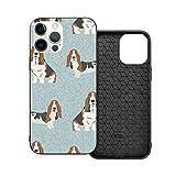 Funda de protección compatible con iPhone 12 / iPhone 12 Pro Basset Hound Pet Dog Phone Cases/Funda de silicona suave TPU