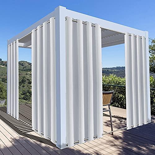 Tende Gazebo Oscuranti Impermeabili con Anelli, Giardino Terrazza Protezione UV Termiche Isolanti Opache Tenda Tende da Esterno con Occhielli