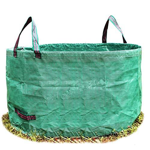 Josopa Bolsas para desechos de jardín para Trabajo Pesado de 63 galones para Jardines de jardín (D32 * H18inch) Bolsas para desechos de jardín - Bolsas de Compost para Trabajo Pesado con Asas