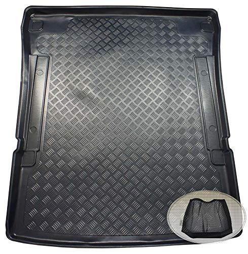 ZentimeX Z3347300 Geriffelte Kofferraumwanne fahrzeugspezifisch + Klett-Organizer (Laderaumwanne, Kofferraummatte)