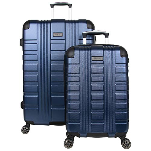Kenneth Cole Reaction Scott's Corner Hardside Expandable 8-Wheel Spinner TSA Lock Travel Suitcase, Navy, 2-Piece Set (20' & 28')
