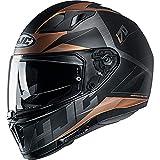 HJC I70 Eluma Motorradhelm, Goldbraun, L