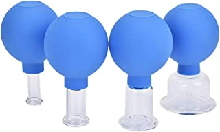 HassanOuld Face Cupping Therapy Sets - Glass Facial Vacuum Suction Massage Cups for Facelift, Wrinkles and Anti Cellulite ...