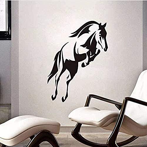 Vinilo pegatinas de pared decoración de la pared pegatinas de bricolaje hermoso caballo saltando para la sala de estar decoración de la habitación de los niños 59x44 cm